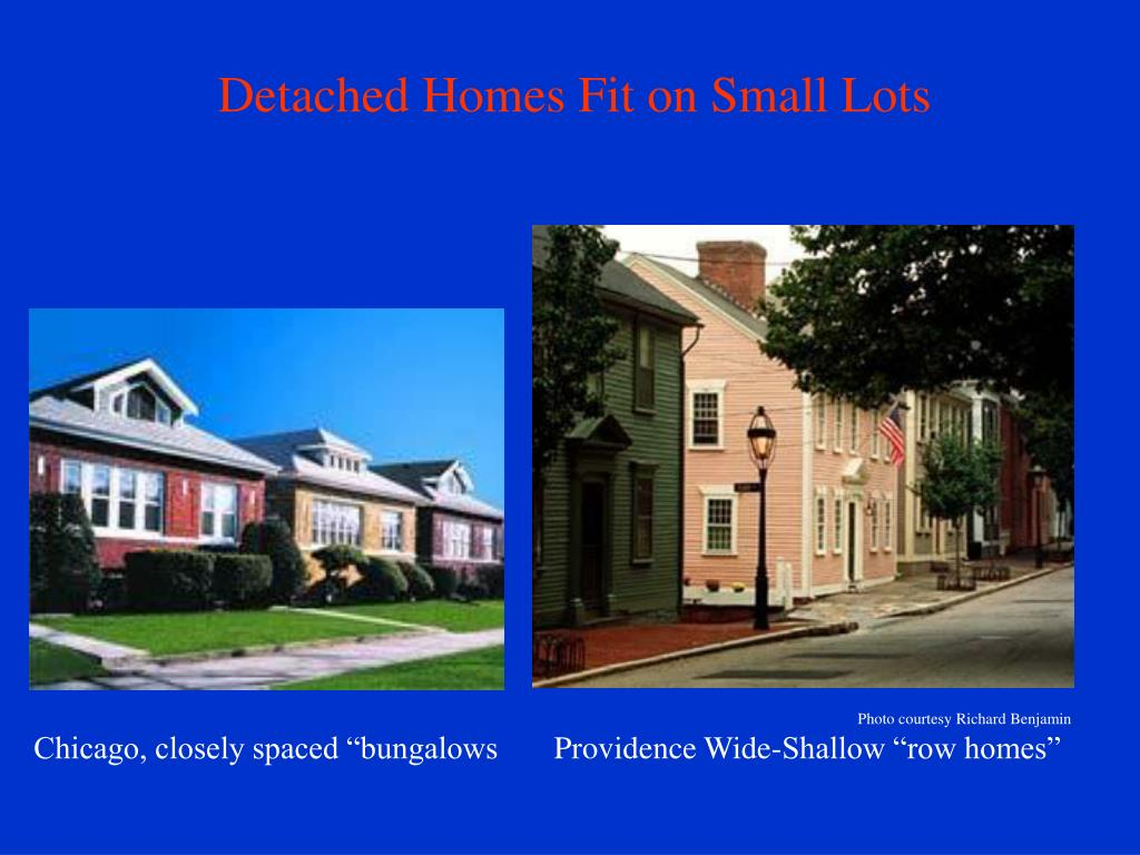 Detached Homes Fit on Small Lots