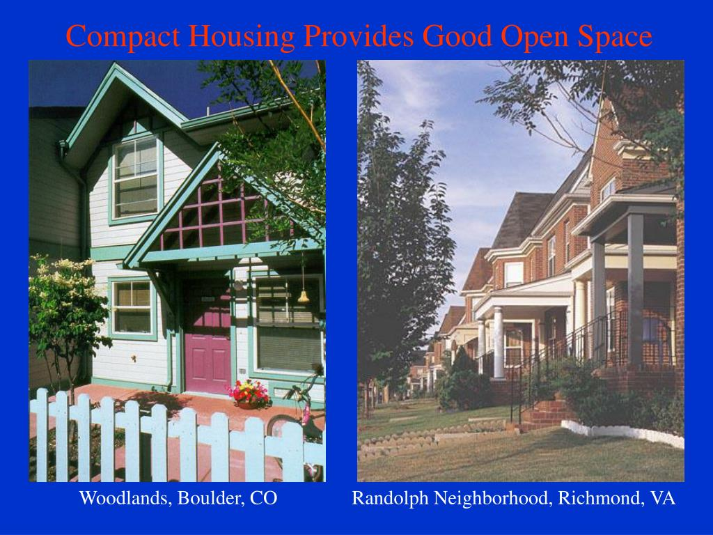 Compact Housing Provides Good Open Space