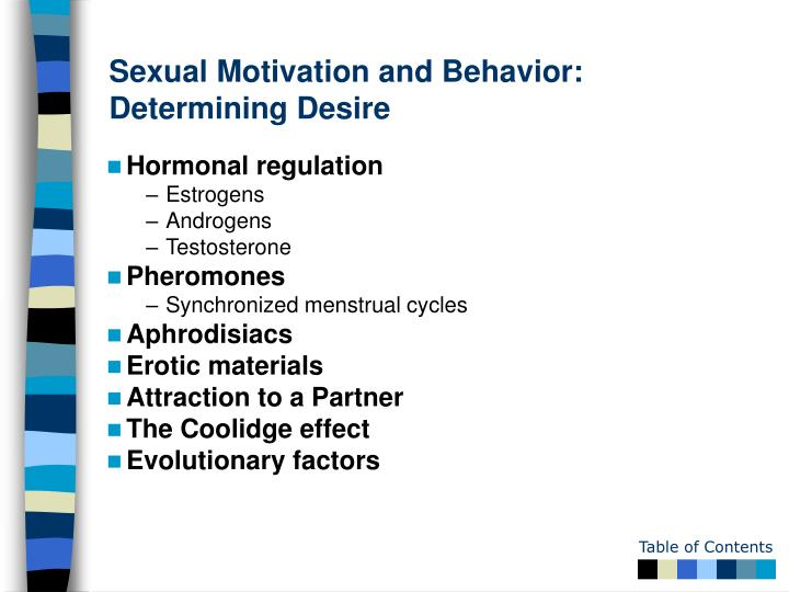 Sexual Motivation and Behavior: Determining Desire