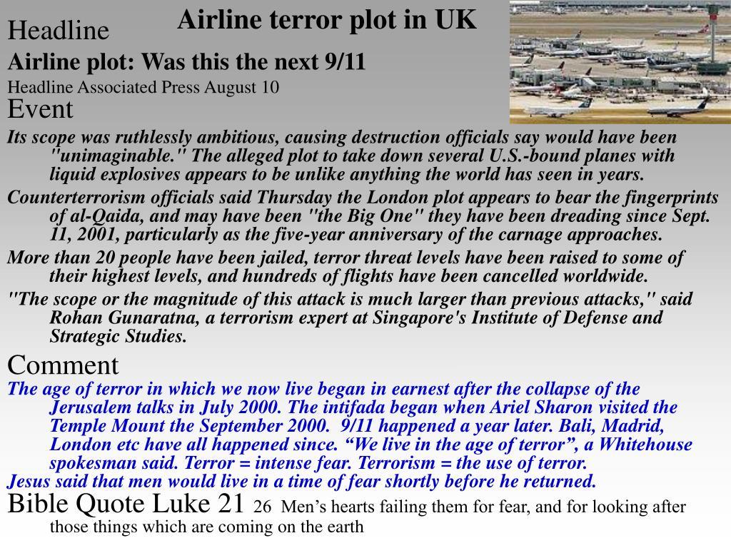Airline terror plot in UK