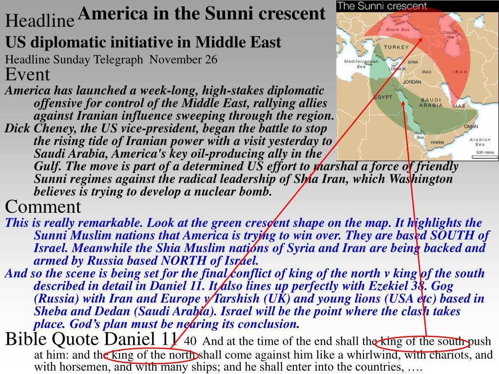 America in the Sunni crescent