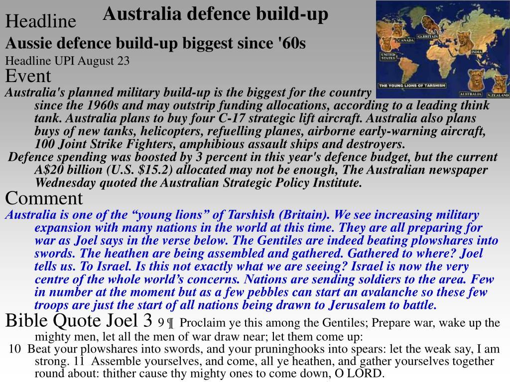 Australia defence build-up