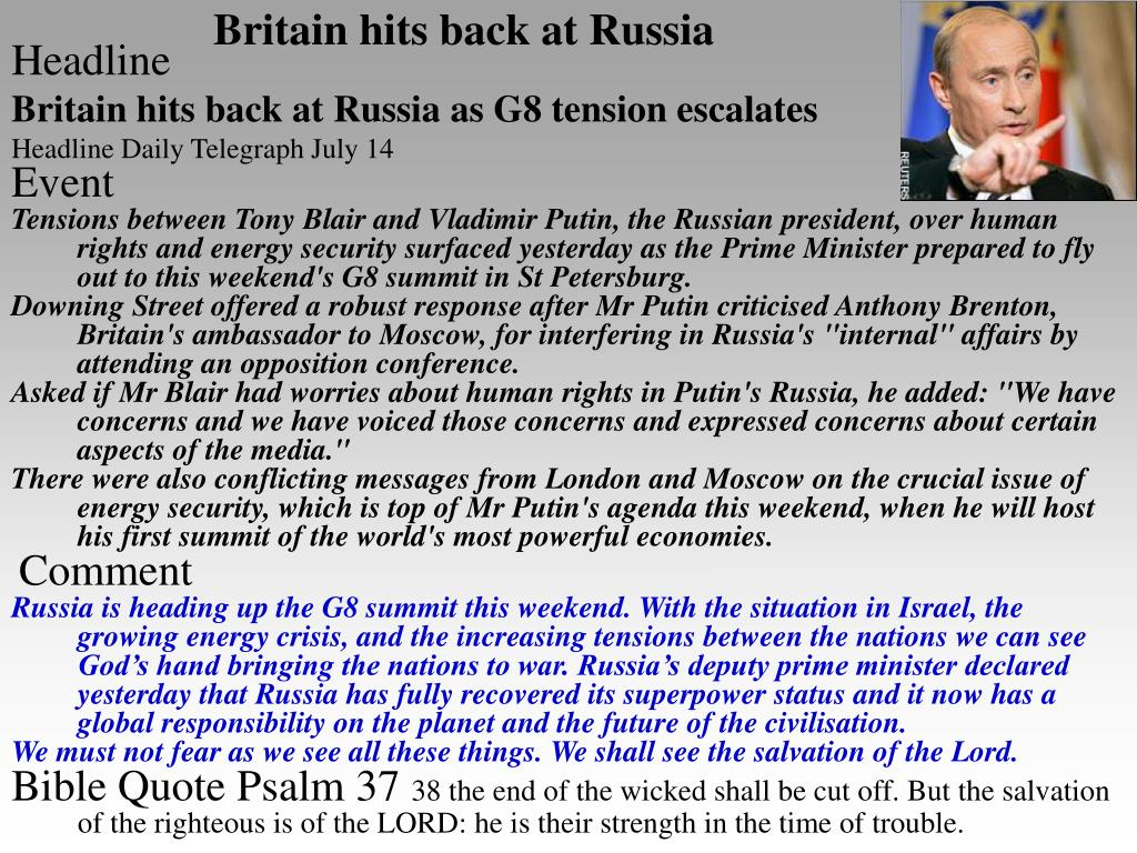 Britain hits back at Russia