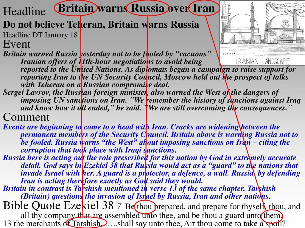 Britain warns Russia over Iran