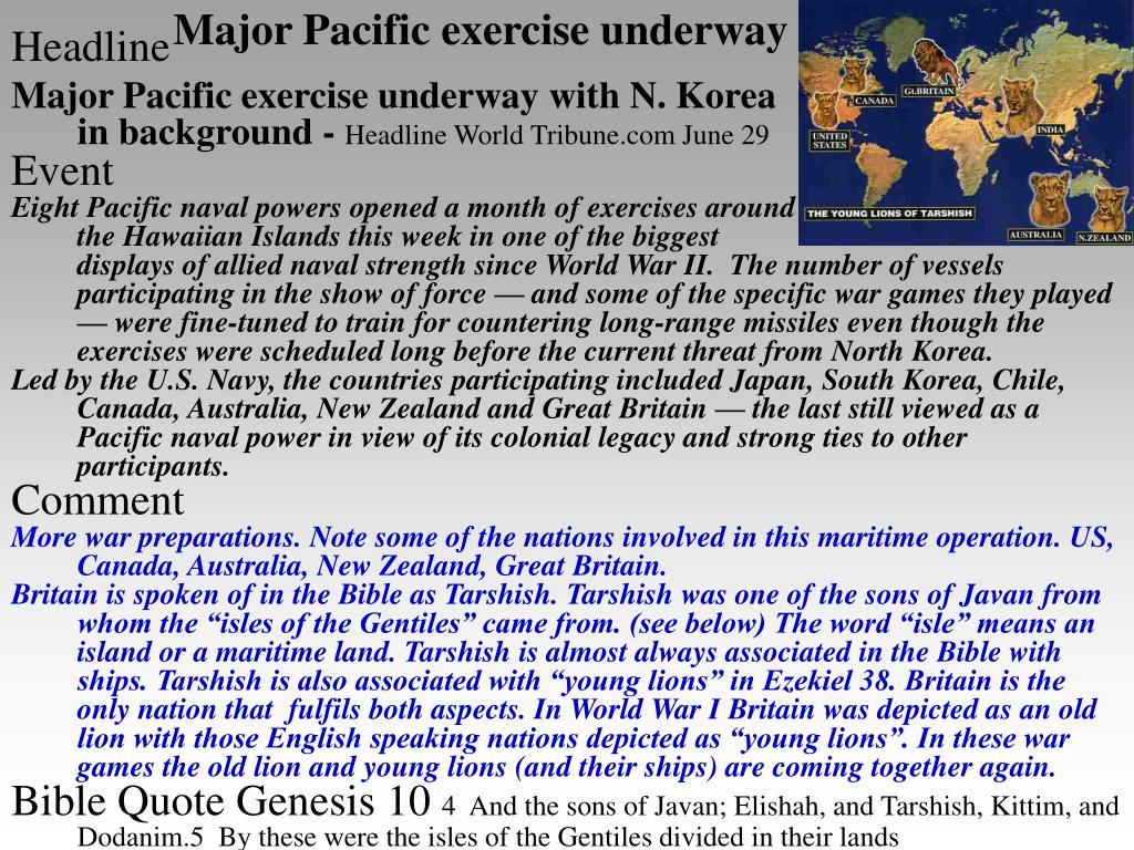 Major Pacific exercise underway