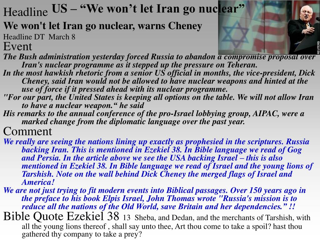 """US – """"We won't let Iran go nuclear"""""""