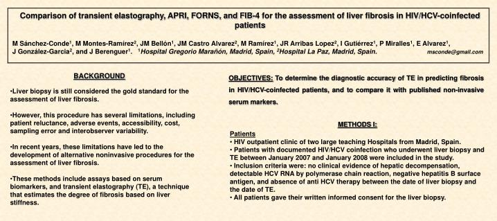 Comparison of transient elastography, APRI, FORNS, and FIB-4 for the assessment of liver fibrosis in...