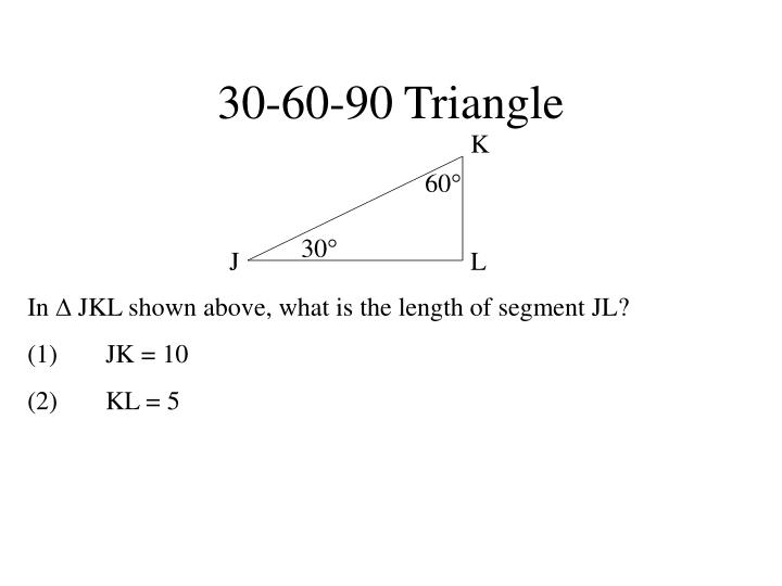 30-60-90 Triangle