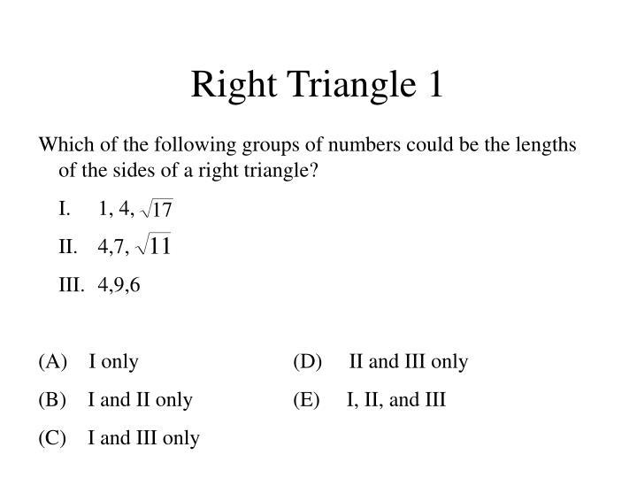 Right Triangle 1