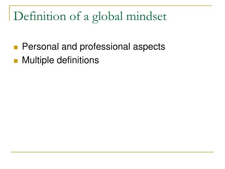 Definition of a global mindset