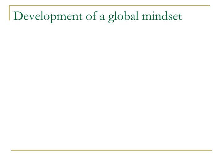 Development of a global mindset