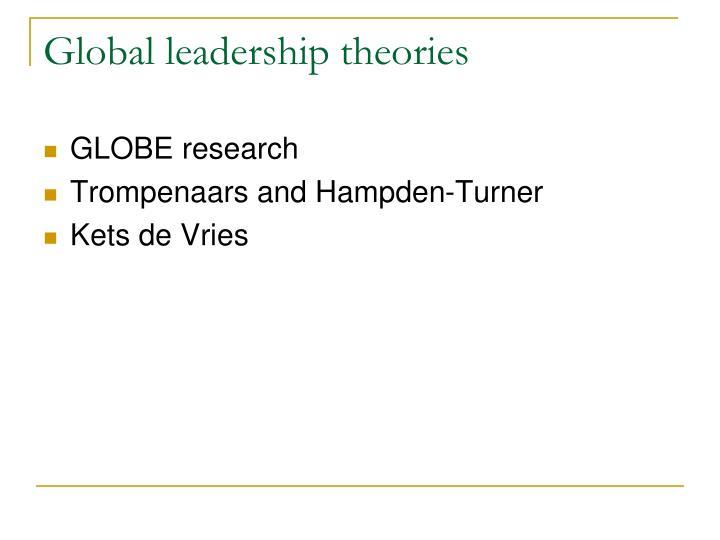Global leadership theories