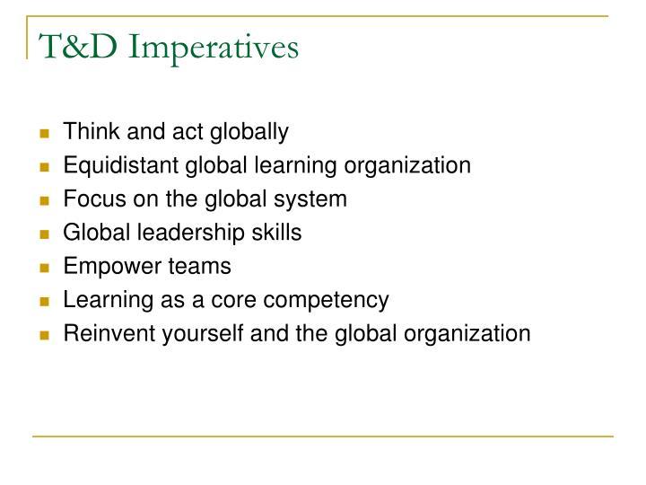 T&D Imperatives