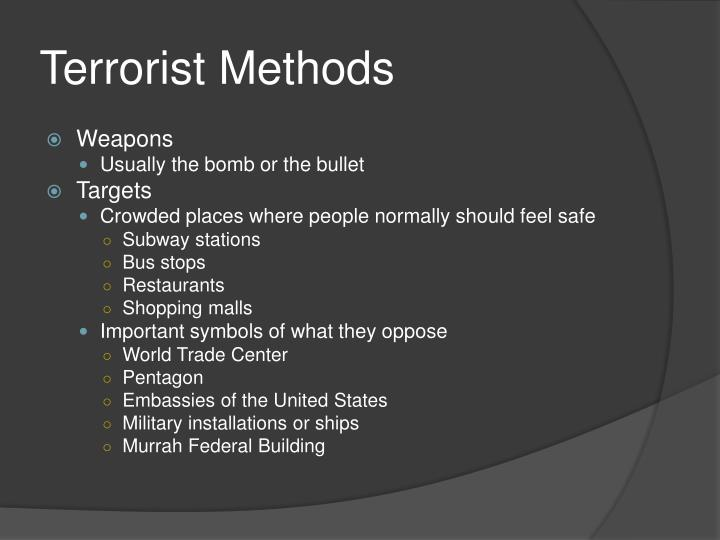 a case study of the terrorist use of chemical weapons in the world Insights into how terrorists develop biological and chemical weapons was a case study on the aum shinrikyo senate world to save it: aum shinrikyo.