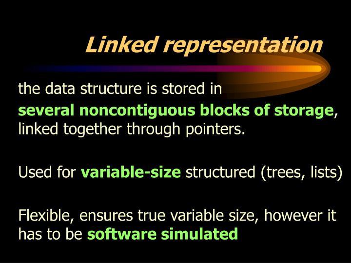 Linked representation