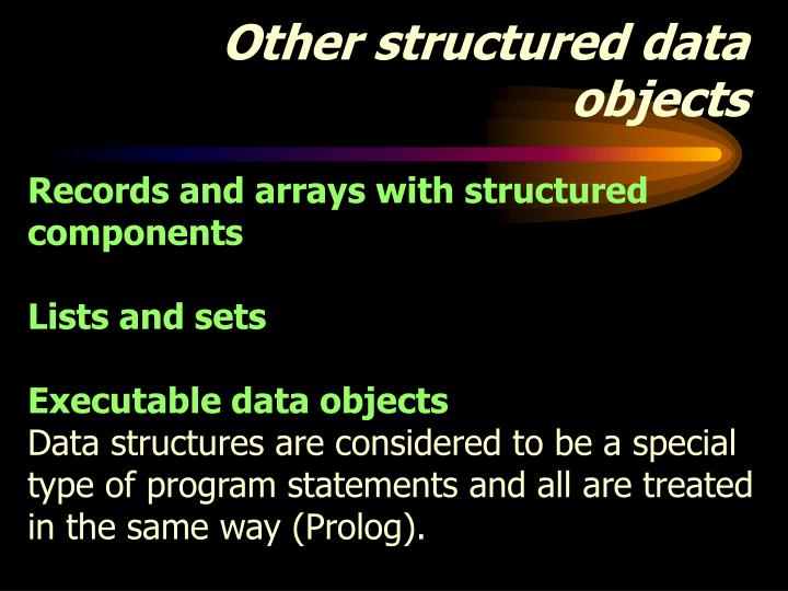 Other structured data objects