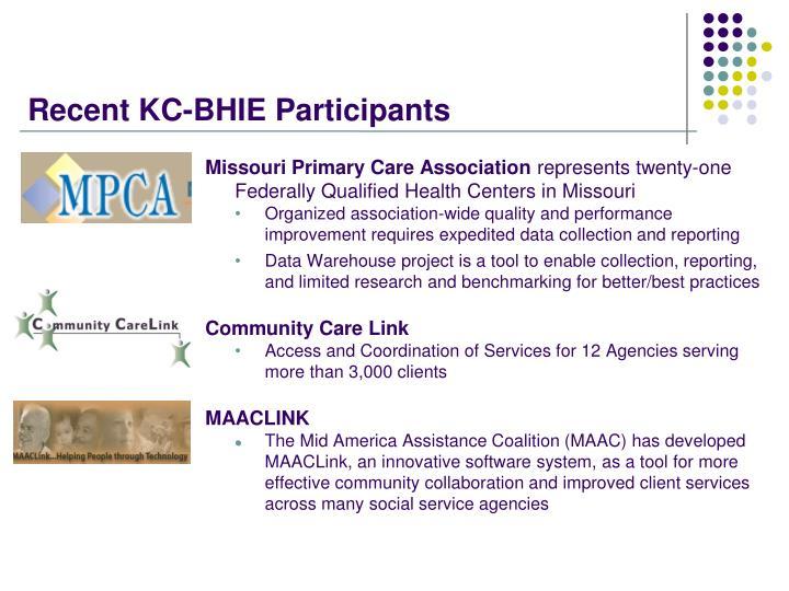 Recent KC-BHIE Participants