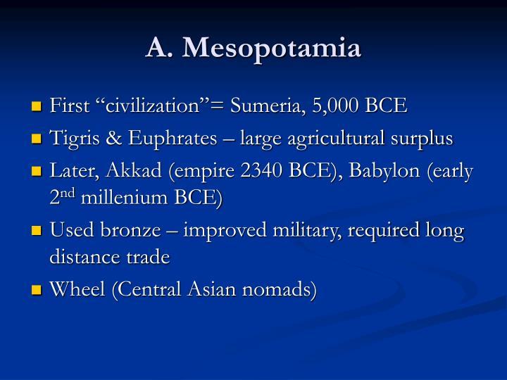A. Mesopotamia