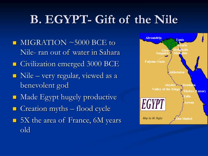 B. EGYPT- Gift of the Nile
