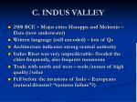 c indus valley