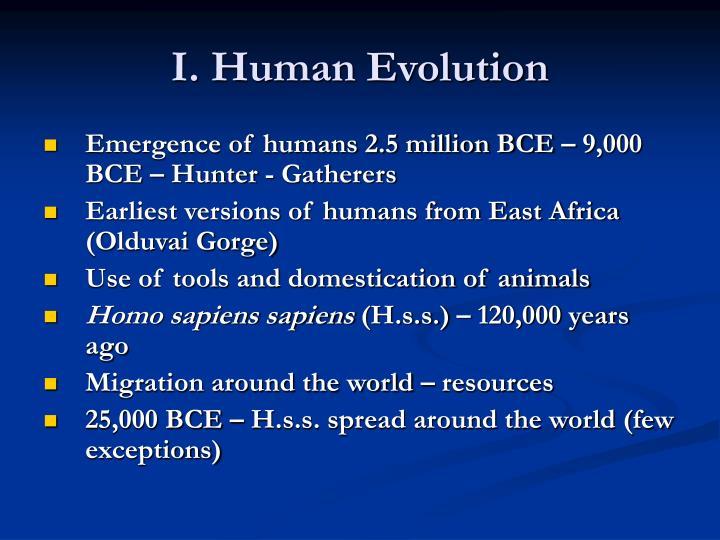 I. Human Evolution
