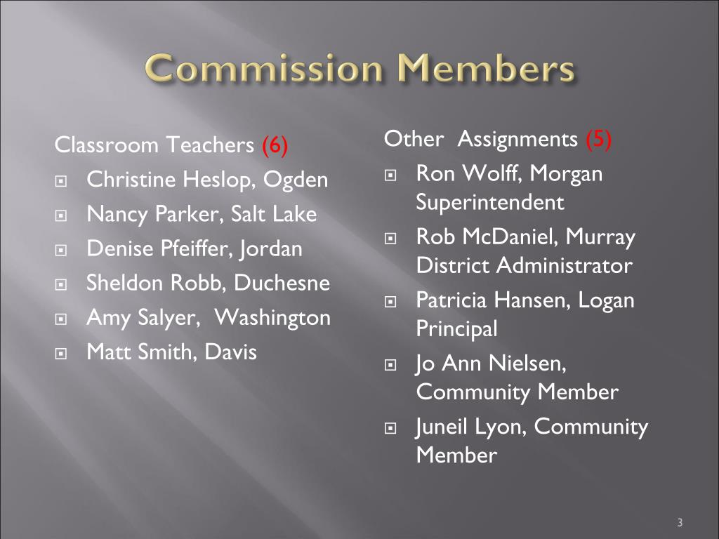 Commission Members
