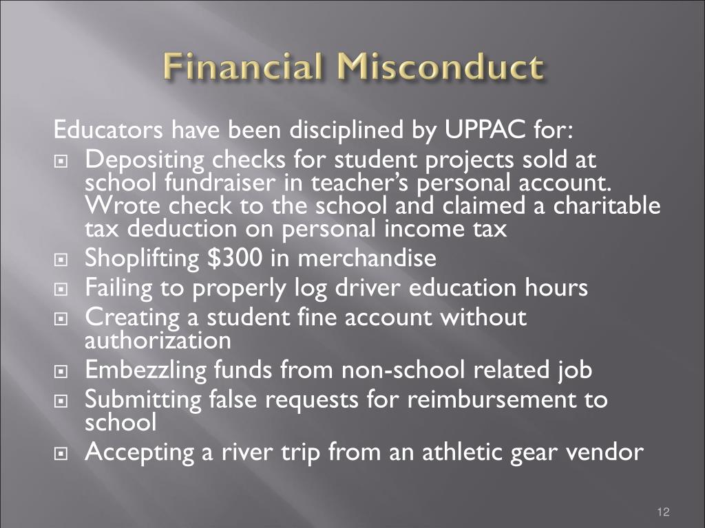 Financial Misconduct
