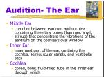 audition the ear