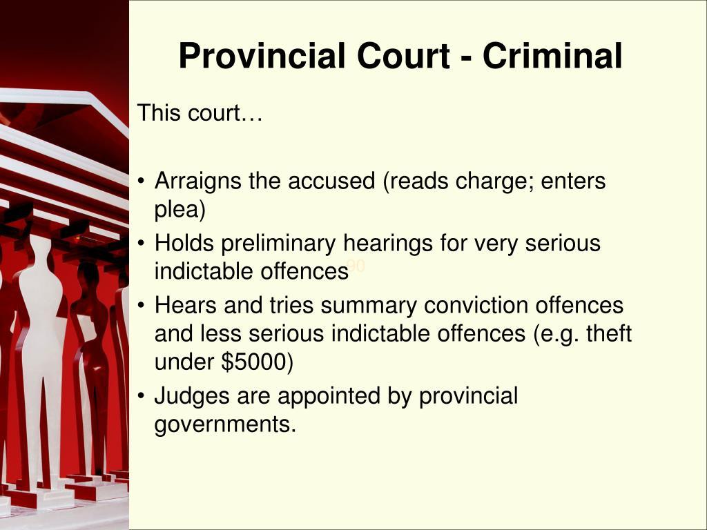 Provincial Court - Criminal
