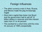 foreign influences