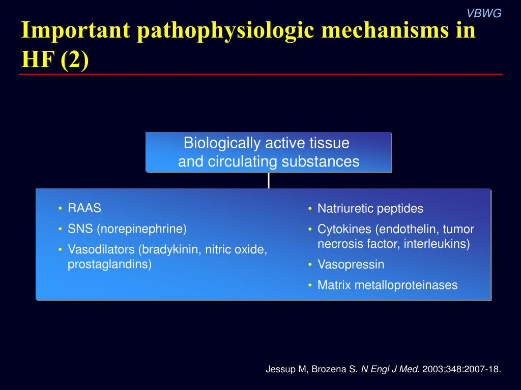 Important pathophysiologic mechanisms in HF (2)