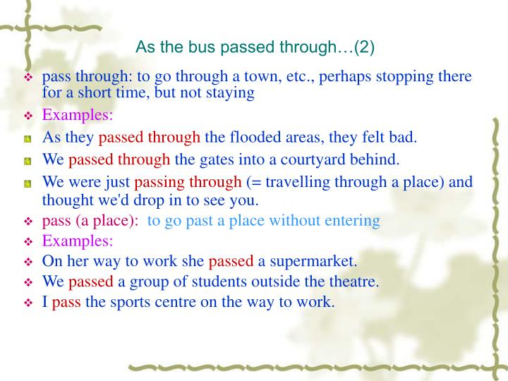 As the bus passed through…(2)