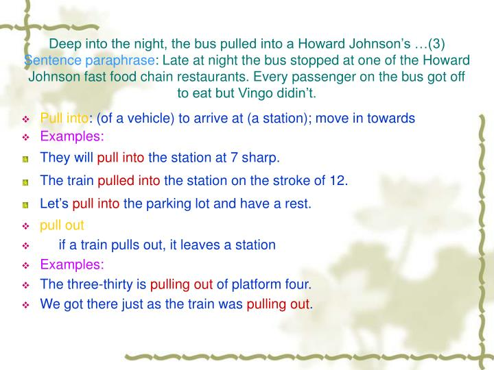 Deep into the night, the bus pulled into a Howard Johnson's …(3)