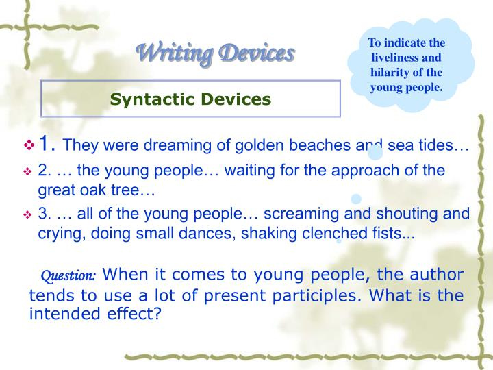 Syntactic Devices