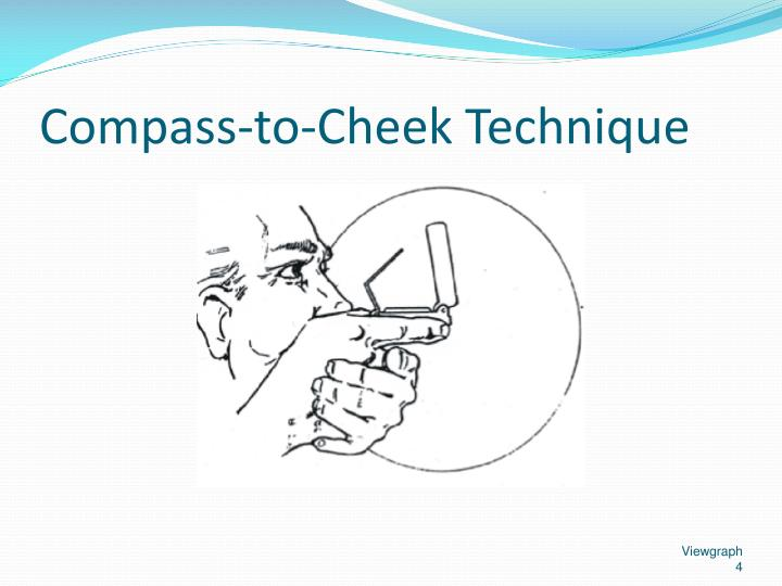 Compass-to-Cheek Technique