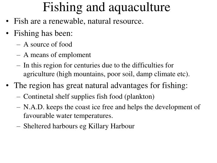 Fishing and aquaculture