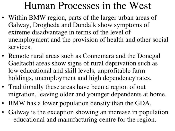 Human Processes in the West