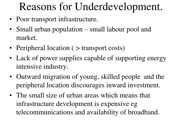 Reasons for Underdevelopment.