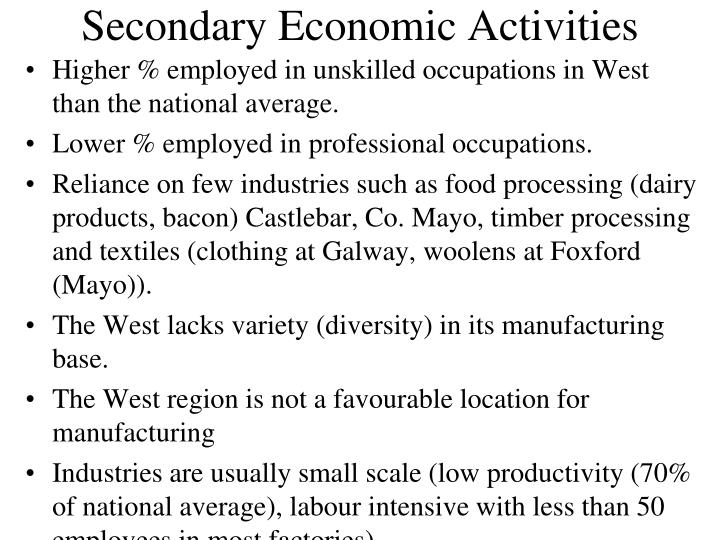 Secondary Economic Activities