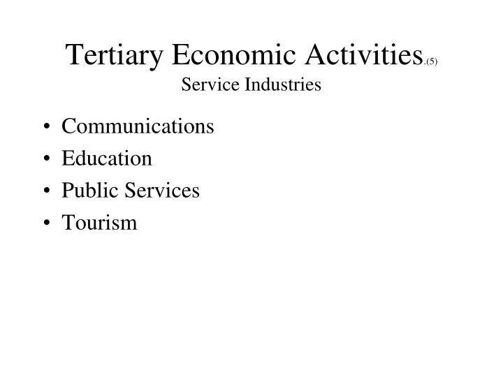 Tertiary Economic Activities