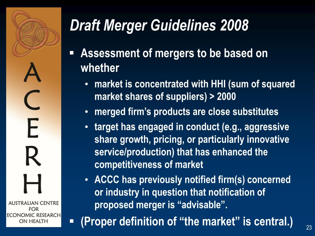 Draft Merger Guidelines 2008