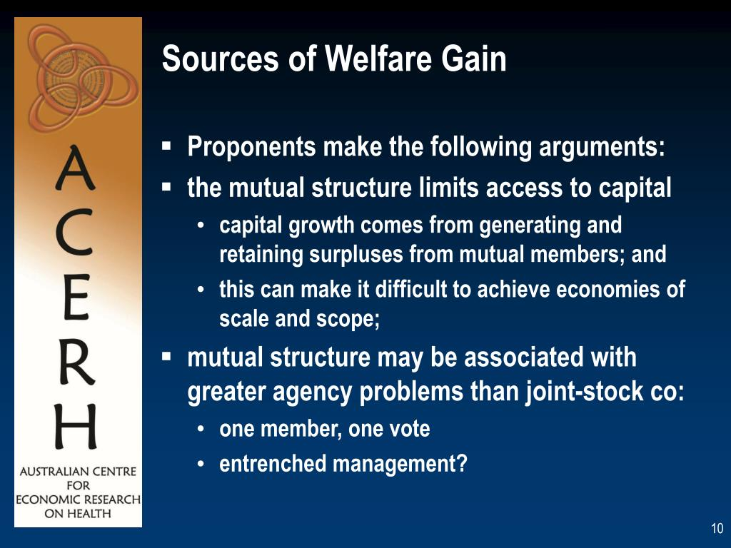 Sources of Welfare Gain