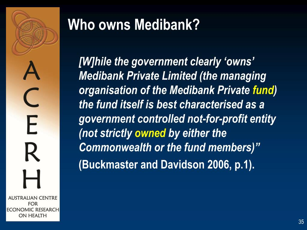 Who owns Medibank?