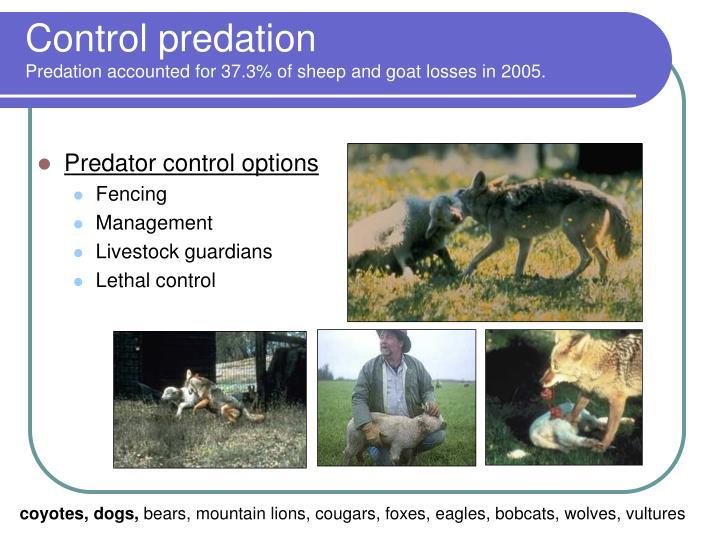 Control predation