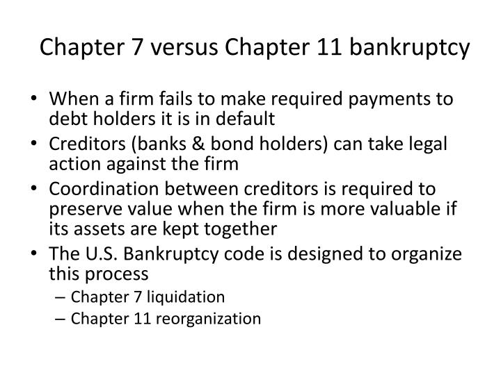 Chapter 11 Bankruptcy PPT - Financial...
