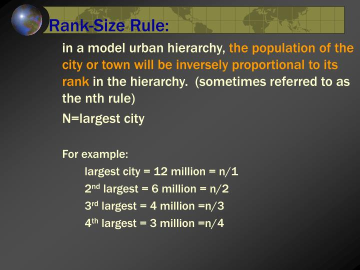 Rank-Size Rule: