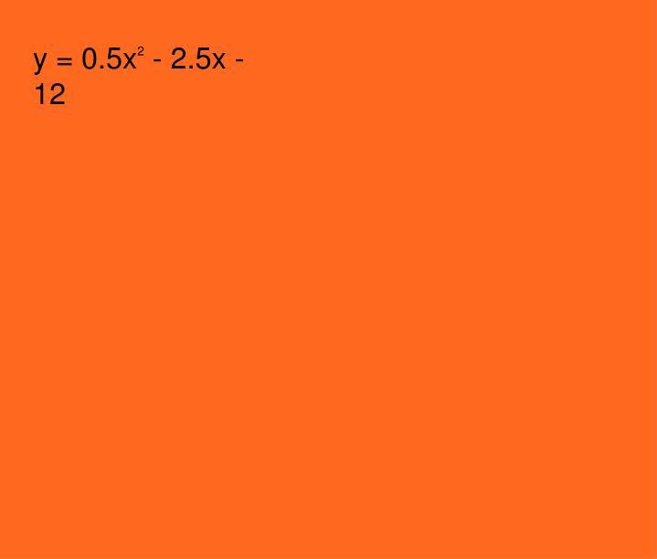 y = 0.5x