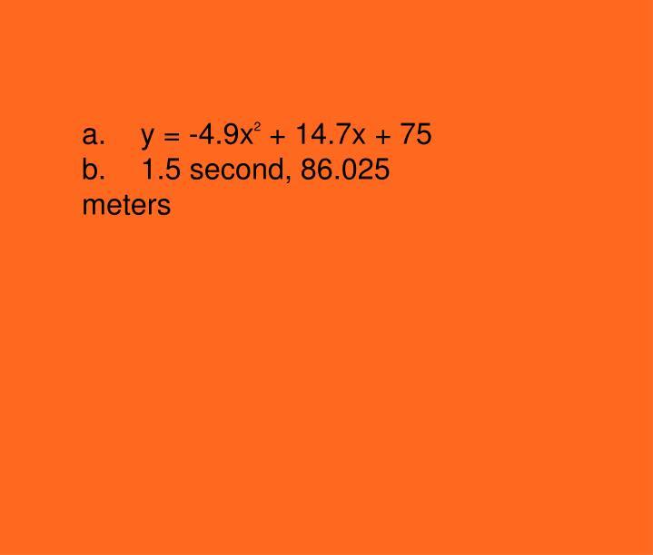 a.y = -4.9x