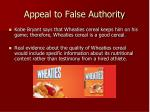 appeal to false authority1