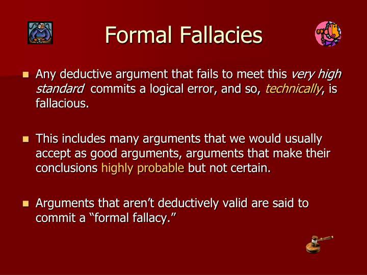 Formal Fallacies